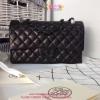Chanel Classic Lamp Leather สีดำ อะหลั่ยดำ