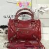 Balenciaga mini city สีแดง