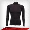 เสื้อรัดรูป Body Fit แขนยาวคอตั้ง รุ่นไมโคร สีดำ