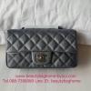 Chanel classic 8 นิ้ว สีเทา งานTOP MIRRORเกาหลี ระดับHiend Origina