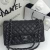 Chanel Classic สีดำ 10 นิ้ว อะหลั่ยรมดำ