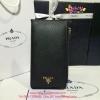 Prada Saffiano Leather Wallet สีดำ