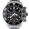 นาฬิกา Seiko Men Chronograph Solar System Diver 200m seiko ssc015P สาย Stainless black