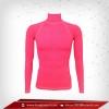 เสื้อรัดรูป Body Fit แขนยาวคอตั้ง สีชมพู deeppink