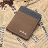 WS02-Brown แนวตั้ง กระเป๋าสตางค์ใบสั้น กระเป๋าสตางค์ผู้ชาย ผ้าแคนวาส สีน้ำตาล