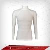 เสื้อรัดกล้ามเนื้อ Rash Guard แขนยาวคอตั้ง สีขาว