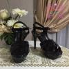 Yves Saint Laurent Tribute Sandal shoes สีดำ Hiend 1:1