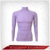 เสื้อรัดรูป Body Fit แขนยาวคอตั้ง สีม่วง lightpurple