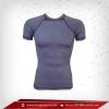 เสื้อรัดกล้ามเนื้อ Body Fit แขนสั้น คอกลม สีเทา stategray สินค้าหมด