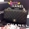 Chanel Classic 10นิ้ว สีดำ CARVIER LEATHER