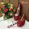 รองเท้า Chanel Flat สีแดง งานHiend