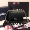 กระเป๋า Chanel Boy 10นิ้ว สีดำ CARVIER LEATHER