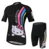**สินค้าพรีออเดอร์**ชุดปั่นจักรยาน ผู้หญิง Kitty สีดำ (เสื้อ+กางเกงขาสั้น)