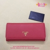 Prada Saffiano Leather Wallet สีแดง งานHiend