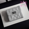 Chanel boy wallet สีเงิน งานHiend Original