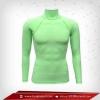 เสื้อรัดรูป Body Fit แขนยาวคอตั้ง สีเขียวอ่อน springgreen