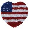 พรมเช็ดเท้า แฟนซี ลาย หัวใจธงอเมริกา
