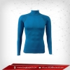 เสื้อรัดรูป Body Fit แขนยาวคอตั้ง สีฟ้า darkstateblue