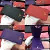 Prada Saffiano Leather Wallet สีดำ,สีแดง,สีม่วง งานHiend