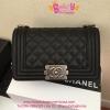 Chanel Boy mini Caviar Leather สีดำ งานTOP MIRRORเกาหลีระดับHiend