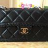 Chanel classic Leather สีดำ