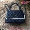 Chanel Mini Coco Handle Bag สีน้ำเงิน งานHiend Original
