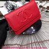Chanel WOC BAG สีแดง หนังคาเวียร์ งานTOP MIRRORเกาหลีระดับHiend