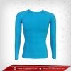เสื้อรัดกล้ามเนื้อ แขนยาวคอกลม สีฟ้า deepskyblue