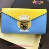 Louis vuitton Tribal mask chain wallet woc epiลายไม้ รุ่นใหม่ชนShop สีฟ้าเหลือง