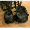 BG116L (ใบใหญ่) กระเป๋าแฟชั่น กระเป๋าสะพาย เป้ แต่งหมุด งานเกรดเอ สไตล์เกาหลี