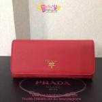 Prada Wallet สีแดง