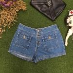 Vintage jean : กางเกงยีนส์วินเทจขาสั้น เอวใต้สะดือ แต่งกระเป๋าหน้า งานเก๋ค่ะ ผ้ายีนส์แท้ไม่ยืด