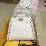 Fendi mini peek a boo mini สีขาว งานTOP MIRRORเกาหลีระดับHiend Original