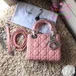 Dior lady mini สีชมพูอ่อน งานHiend Original