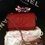Chanel WOC BAG สีแดง หนังคาร์เวียร์