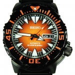 นาฬิกา Seiko Monster Black Orange Fang SRP311K1