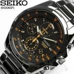 Seiko Chronograph SNDD Black (สาย Stainlss) SNDD65P สายรมดำ