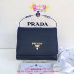 Prada Small Wallet สีน้ำเงินกรม