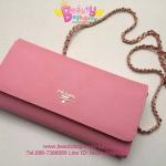 Prada Wallet สีชมพูนม งานTOP MIRRORเกาหลีระดับHiend