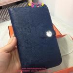 Hermes Dogon Wallet Passport หนังTOGO สีน้ำเงินกรม