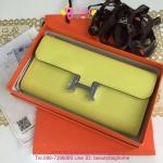 Hermes Constance clutch wallet สีเหลืองเลม่อน