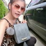 กระเป๋า Fashion งานเกาหลี ตีลายจระเข้ งานสวยเนี๊ยบ