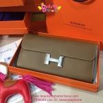 Hermes Constance clutch wallet สีน้ำตาล
