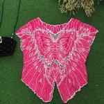 Vintage Top : เสื้อปักฉลุทรงผีเสื้อ สีบานเย็นจี๊ดๆ สวยงามมากค่ะ