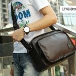 LT42-Brown กระเป๋าสะพายข้าง หนัง PU สีน้ำตาล