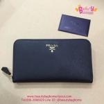 Prada Zippy Saffiano Leather Wallet สีดำ งานHiend