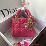 Dior lady mini 7 นิ้ว สีชมพูบานเย็น งานTOP MIRRORเกาหลีระดับHiend