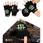 ถุงมือครึ่งนิ้ว Monster Energy รหัส GT017