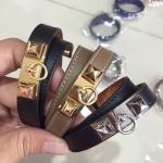 Hermes Kelly Double Tour Bracelet สีดำ,สีเทา