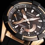 Seiko Men's Sport Kinetic Direct Drive Velatura TiCN Black Watch SRH020P1